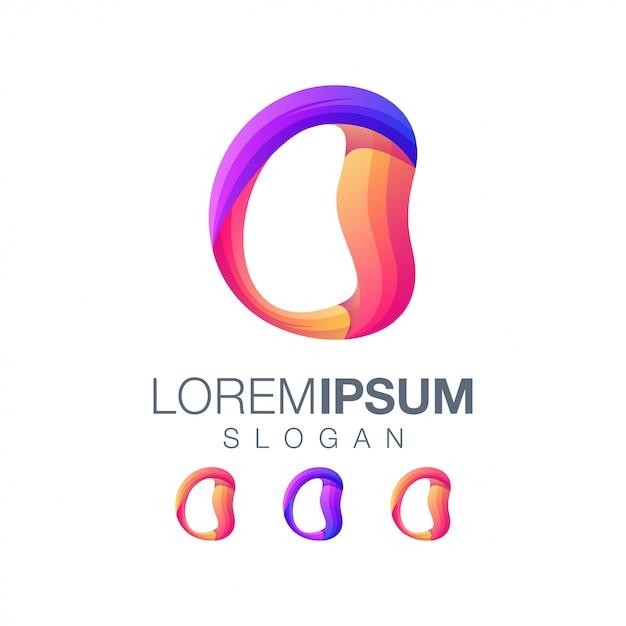 Letter o gradiëntkleur logo ontwerp vector Premium Vector