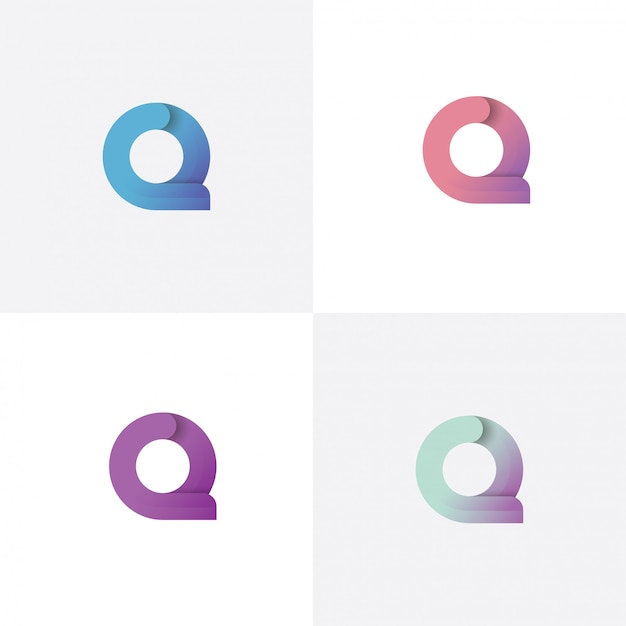 Letter q logo ontwerpsjabloon met verschillende stijl Premium Vector