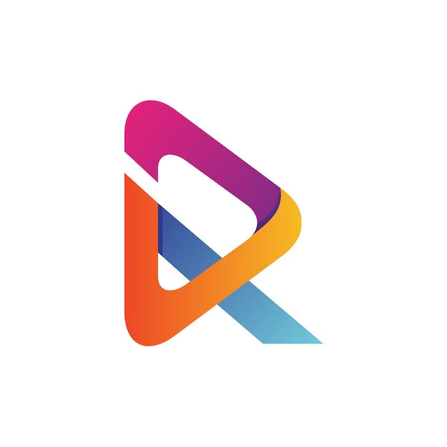 Letter r arrow logo vector Premium Vector