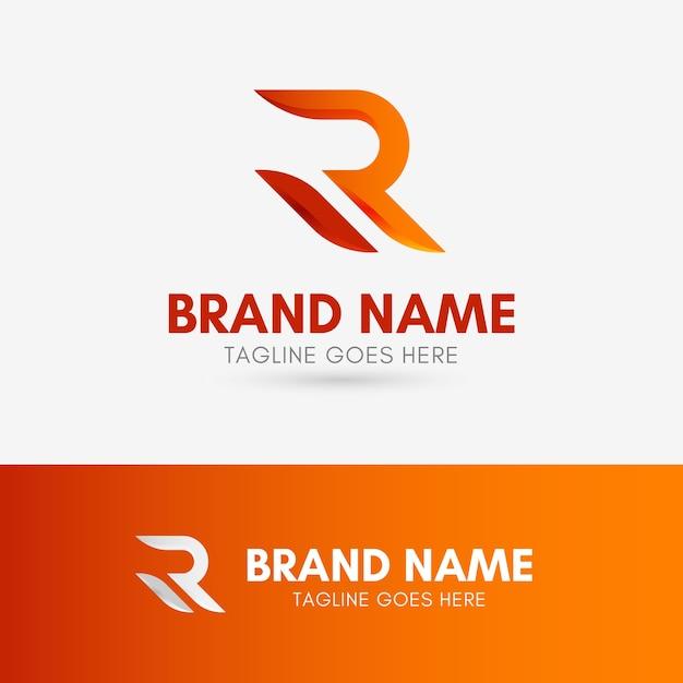 Letter r shape-logo Premium Vector