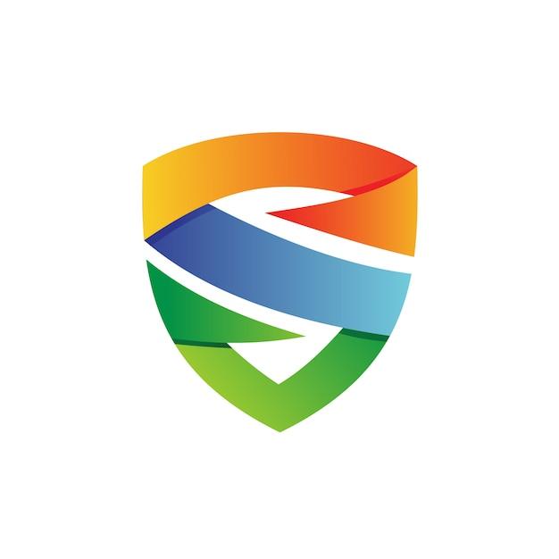 Letter s shield logo vector Premium Vector