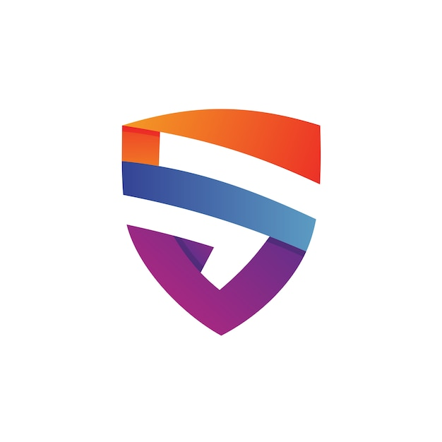 Letter s shield logo Premium Vector