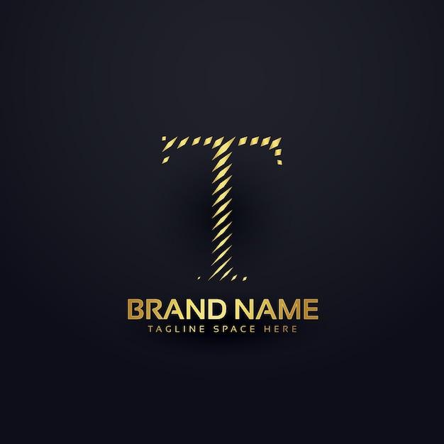 Letter t logo concept in abstracte stijl Gratis Vector