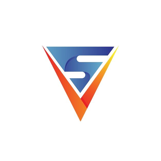 Letter v en s logo design Premium Vector