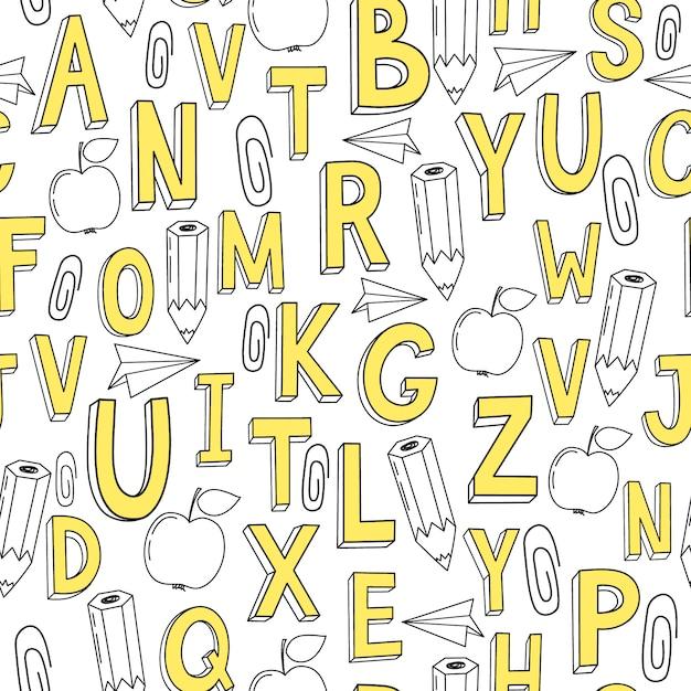 Letters patroon achtergrond Gratis Vector