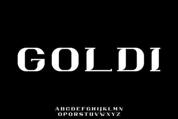 Lettertype alfabet set Premium Vector