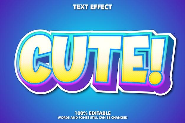 Leuk cartoon teksteffect Gratis Vector