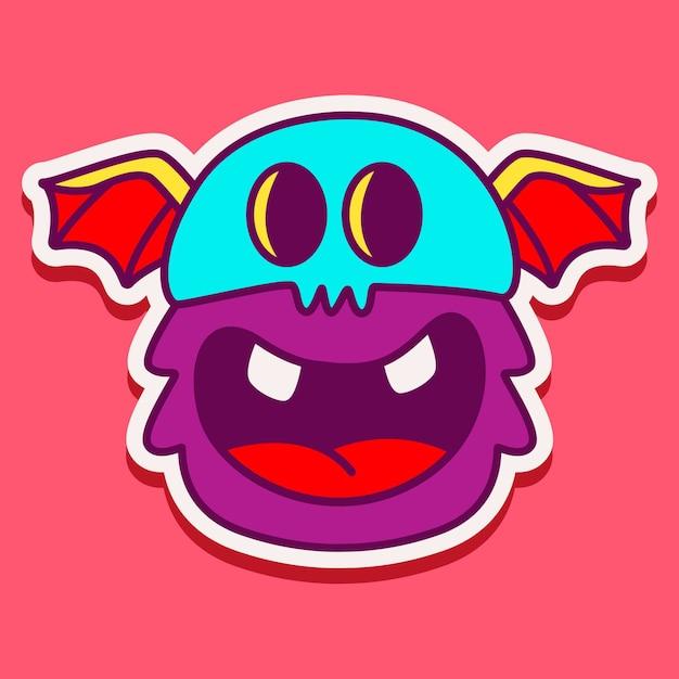 Leuk monster karakter Premium Vector