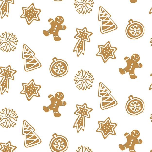 Leuk naadloos patroon met koekje. Premium Vector