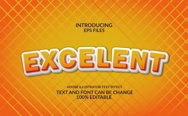 Leuke en cartoon 3d reliëf gele tekst. bewerkbaar lettertype en tekststijleffect. Premium Vector