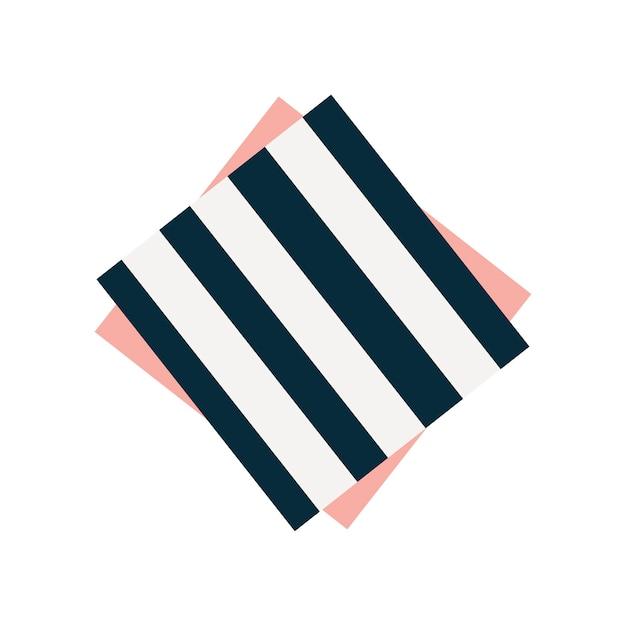 Leuke gestreepte servet grafische illustratie Gratis Vector