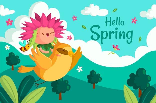 Leuke hallo lente achtergrond Gratis Vector