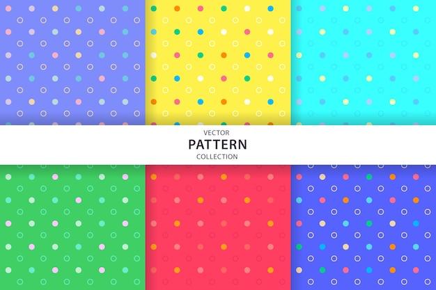 Leuke naadloze patrooninzameling Premium Vector