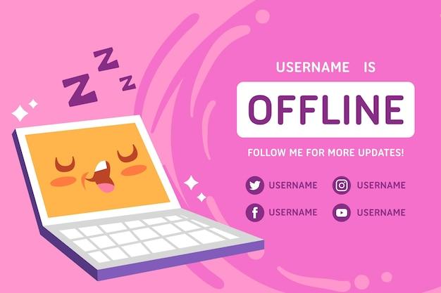 Leuke offline twitch-banner Gratis Vector