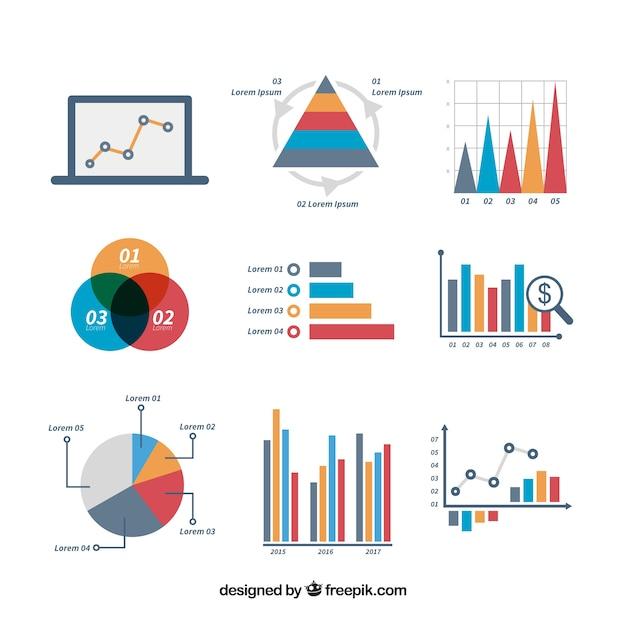 Leuke set infografische elementen Gratis Vector