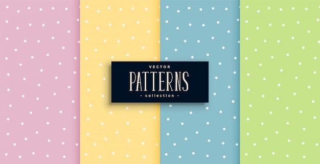 Leuke stippen kleine patronen in pastelkleuren Gratis Vector