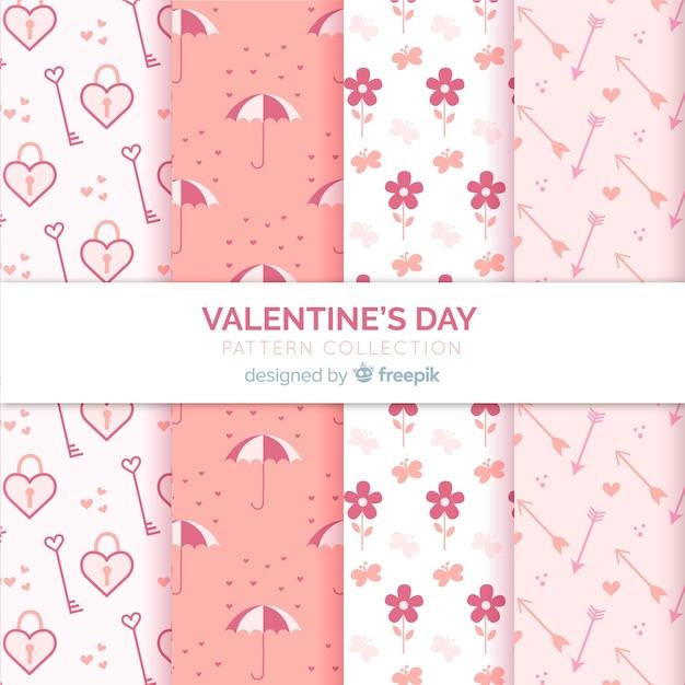 Leuke valentijnskaartpatronen Gratis Vector