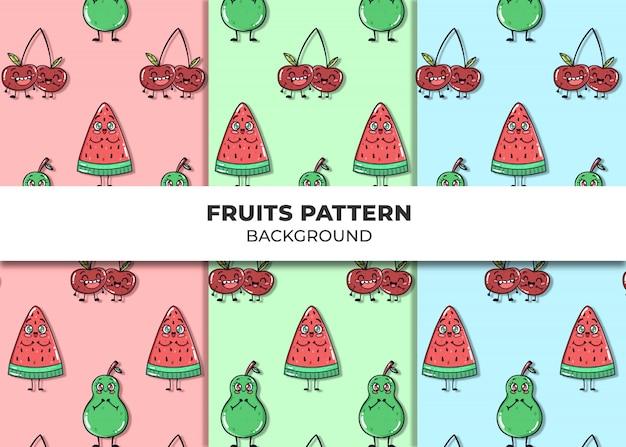 Leuke vruchten patroon vector Gratis Vector