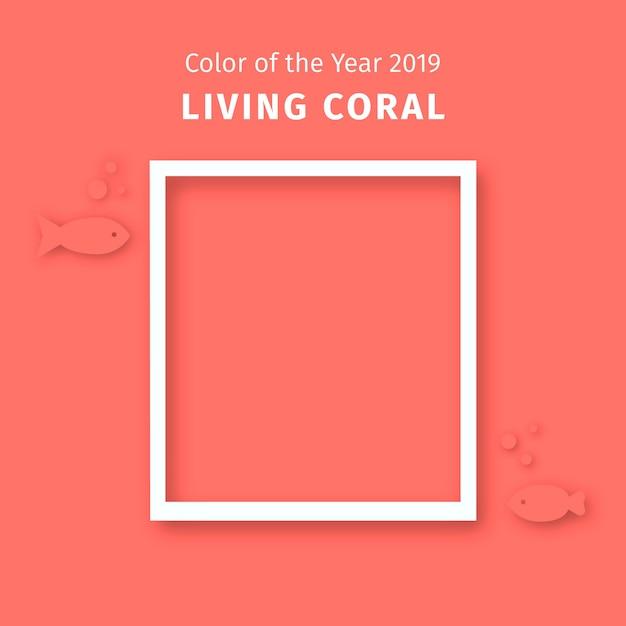 Levende koraal achtergrond Gratis Vector