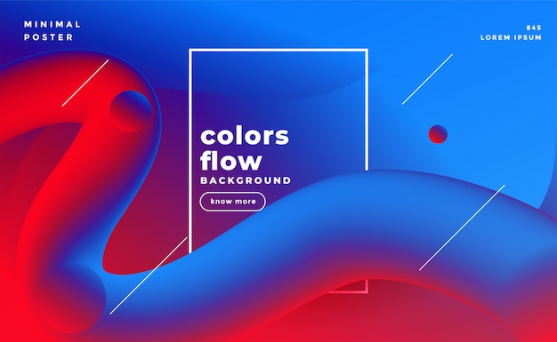 Levendige 3d vloeibare lussen vloeistof kleuren achtergrond Gratis Vector