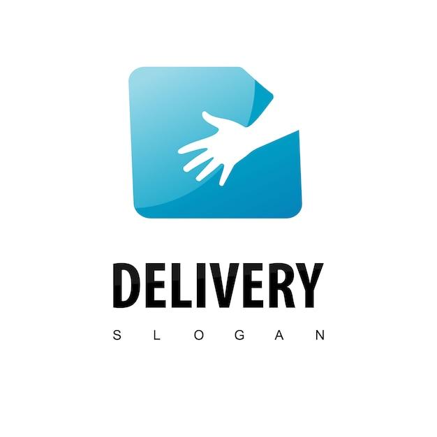 Levering logo ontwerp inspiratie Premium Vector