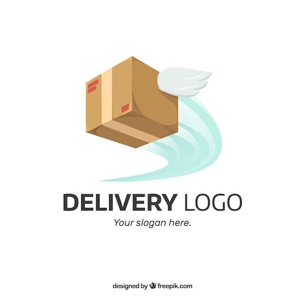 Levering logo sjabloon Gratis Vector