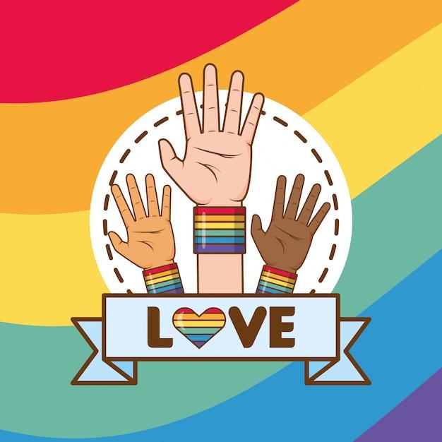 Lgbt liefde Gratis Vector