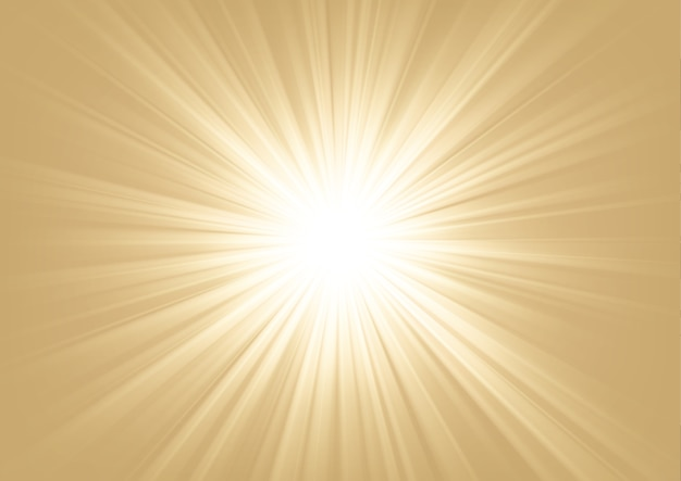 Licht schijnt op lichte achtergrond vectorillustratie Premium Vector