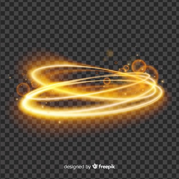 Licht wervelingseffect op eenvoudige achtergrond Gratis Vector