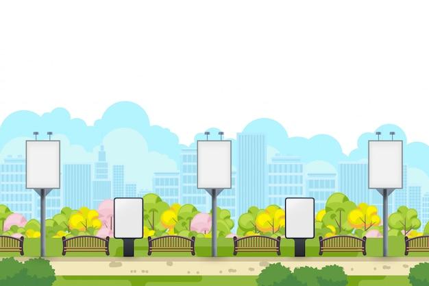 Lichtbak en adverteren sjabloon voor spandoek Premium Vector