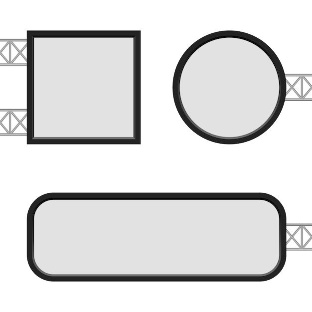 Lichtbak sjabloon illustratie op witte achtergrond Premium Vector