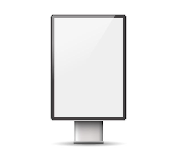 Lichtbak sjabloon. outdoor 3d retail-reclameborden. Premium Vector