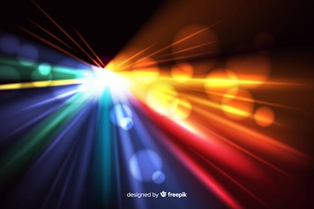 Lichte bewegingsachtergrond met abstracte vormen Gratis Vector