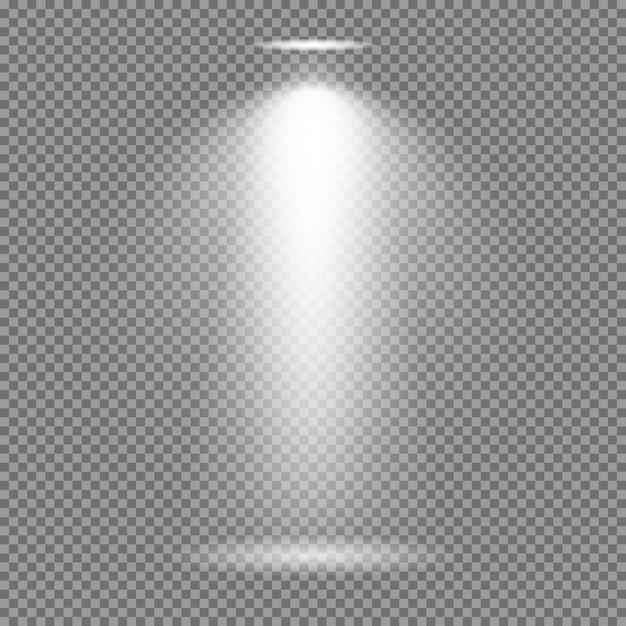 Lichteffect op transparante achtergrond. heldere lichten vectorinzameling Premium Vector