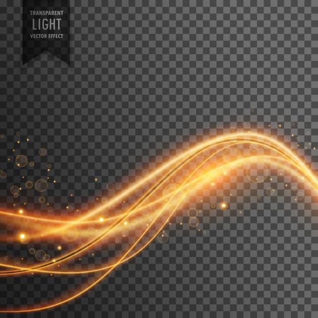 Lichteffect Van Gouden Lichtgolven Met Glitters Vector