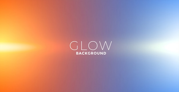 Lichten gloeien effect achtergrond in oranje en blauwe kleuren Gratis Vector