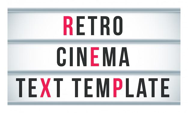Lichtkrant signbox signage. retro bioscoop of theater bord billboard Premium Vector
