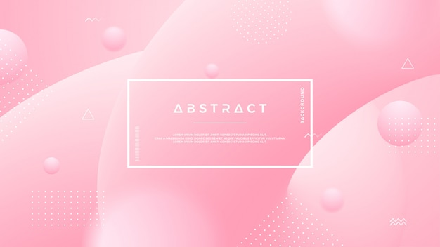 Lichtrose abstracte vloeibare achtergrond. Premium Vector