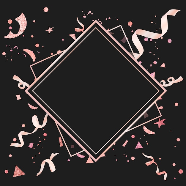 Lichtroze confetti feestelijk ontwerp Gratis Vector