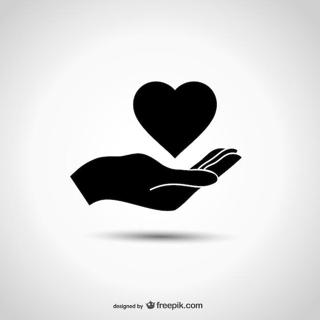 Liefdadigheid logo met de hand Vector | Gratis Download