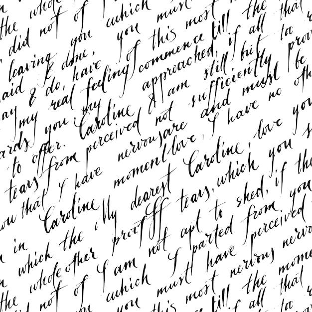 Liefde brief patroon Gratis Vector