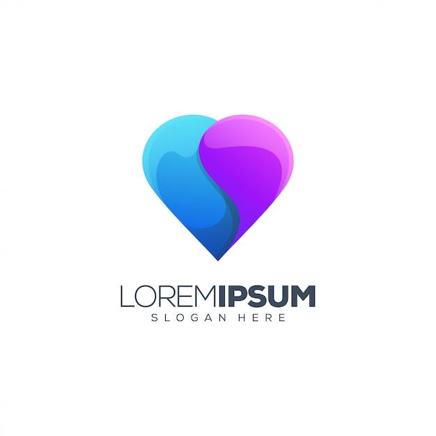 Liefde logo ontwerp vector Premium Vector