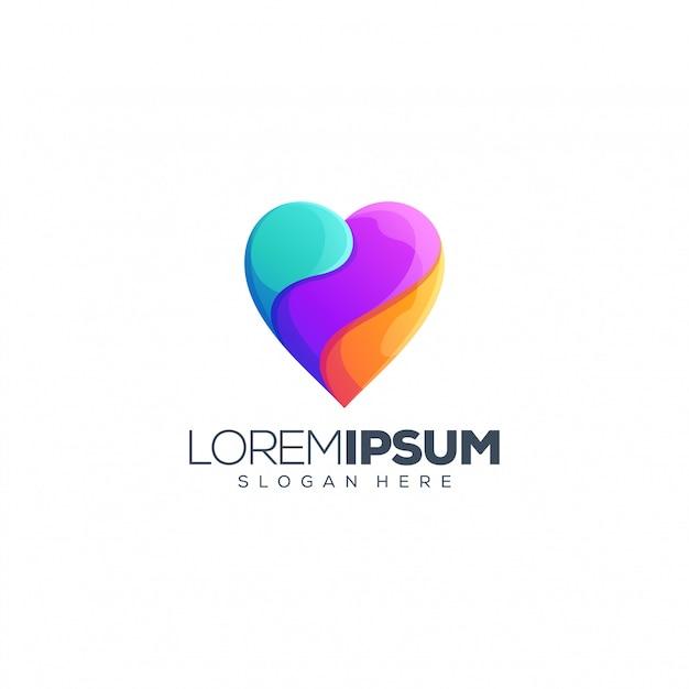 Liefde logo ontwerp vectorillustratie Premium Vector
