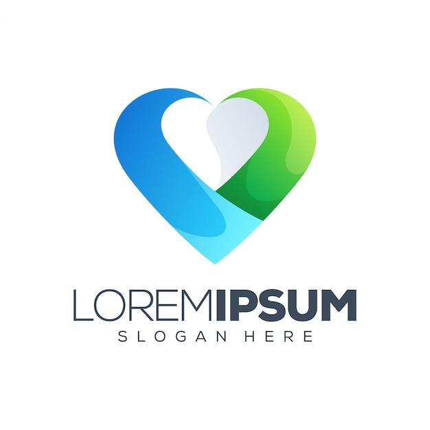Liefde logo vector illustratie Premium Vector