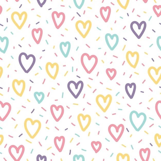 Liefde patroon ontwerp Gratis Vector