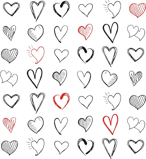 Liefde pictogram hartsymbool Premium Vector