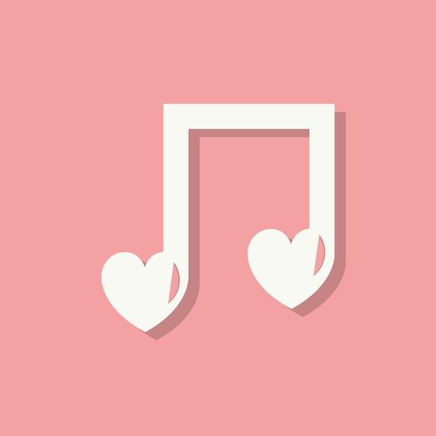 Liefdeslied valentijnsdag pictogram Gratis Vector