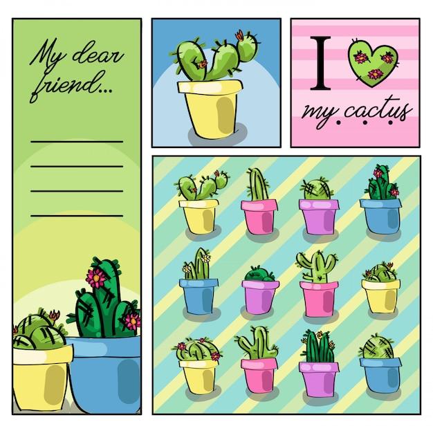 Liefhebber van cactus Premium Vector