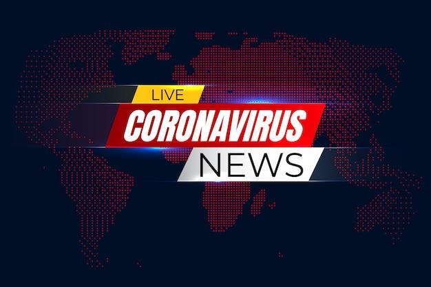 Life corona virus nieuws achtergrond Premium Vector