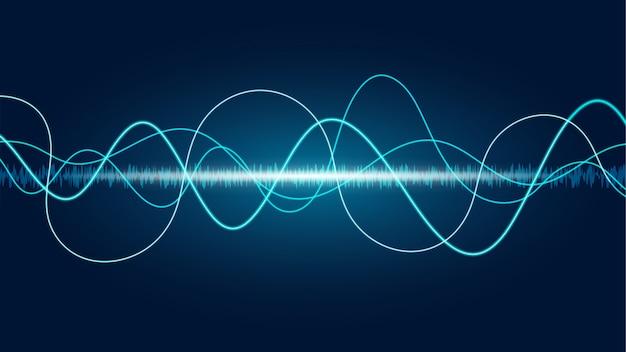 Lijn soundwave abstracte achtergrond Premium Vector